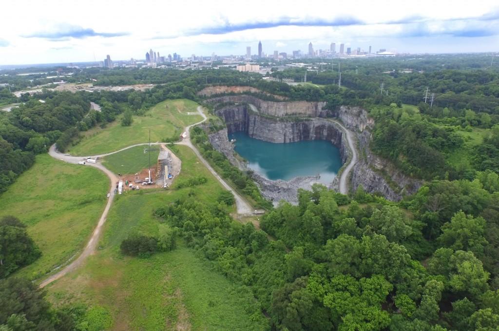 Bellwood Rock Quarry Drone Video