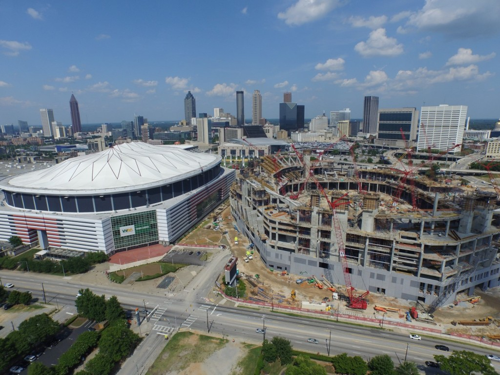New Atlanta Falcons Stadium Drone Video