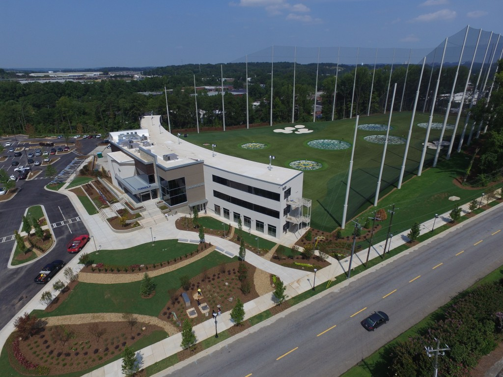 TopGolf Atlanta Midtown Drone Video