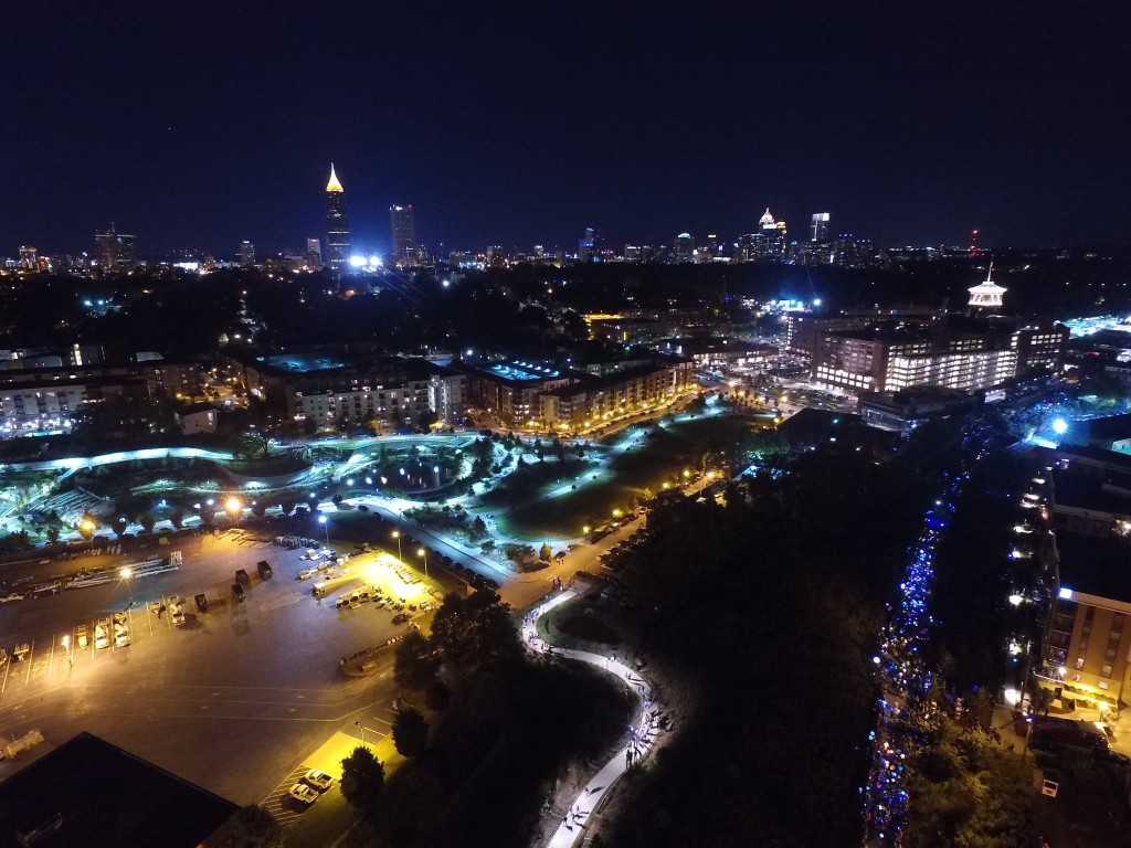 2015 Atlanta BeltLine Lantern Parade Drone Video